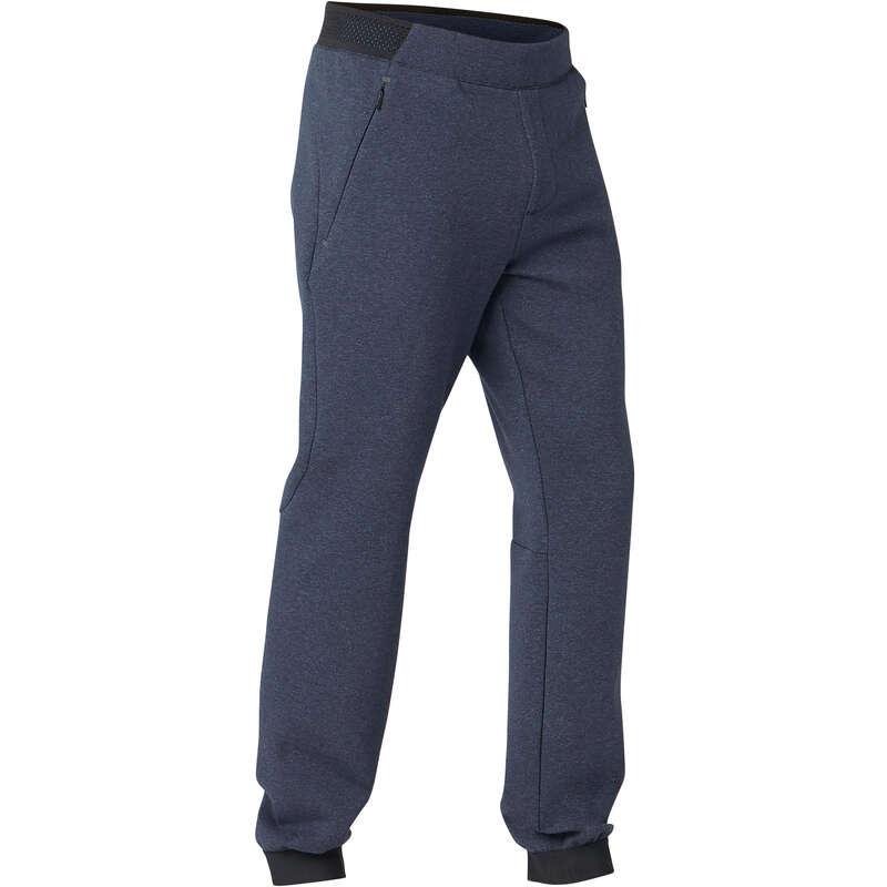 MAN GYM, PILATES COLD WEATHER APPAREL Activewear - 530 Slim Gym Bottoms - Blue DOMYOS - Men