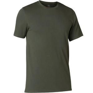 Men's Gym T-Shirt Slim Fit 500 - Dark Green
