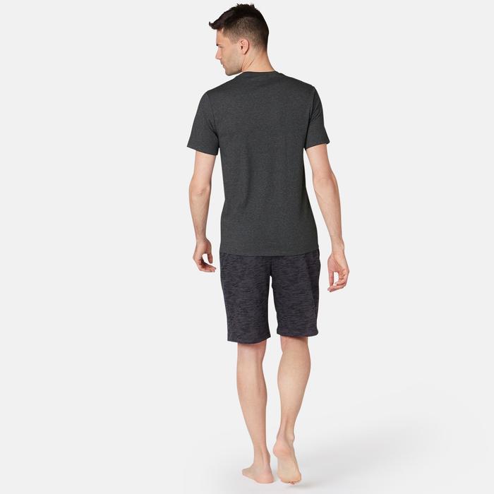 修身剪裁溫和健身與皮拉提斯T恤500 - 雜深灰色