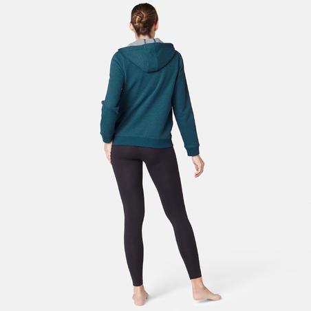 Жіноча кофта 520 для пілатесу та гімнастики, з капюшоном, на блискавці - Синій