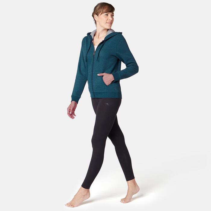 520 Women's Pilates & Gentle Gym Hooded Jacket - Blue