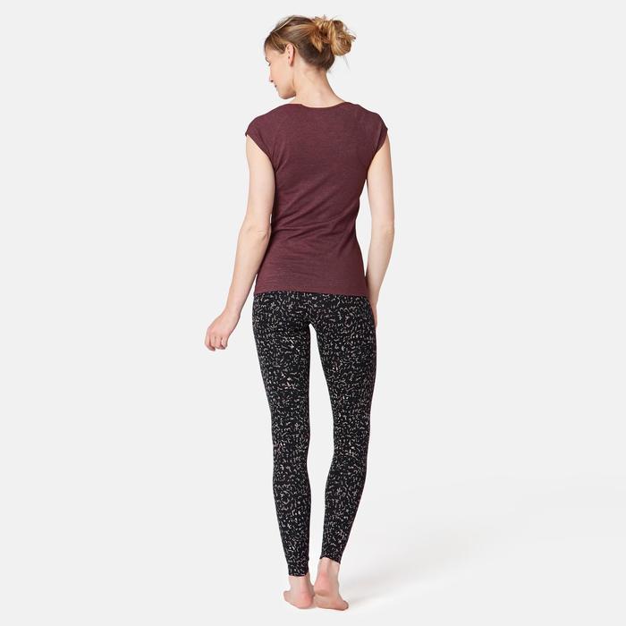 Legging Fit+ 500 Pilates Gym douce femme gris printé