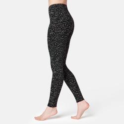 Legging Fit+ 500 Fitness femme gris printé