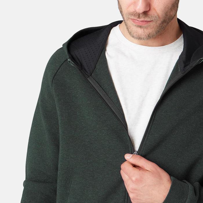 Veste à capuche zippée homme 530 spacer vert chiné