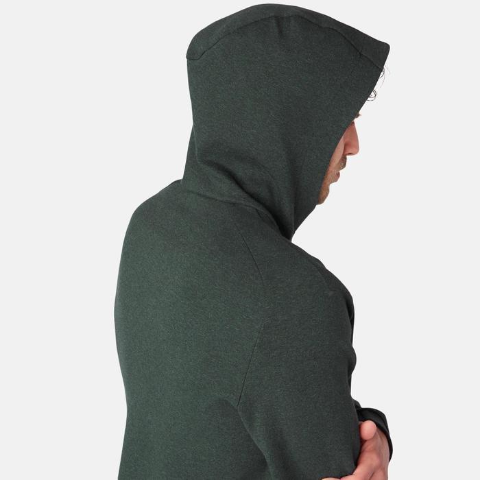 530 Spacer Hooded Pilates & Gentle Gym Jacket - Mottled Green