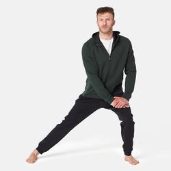 Veste 530 spacer capuche Pilates Gym douce homme vert chiné