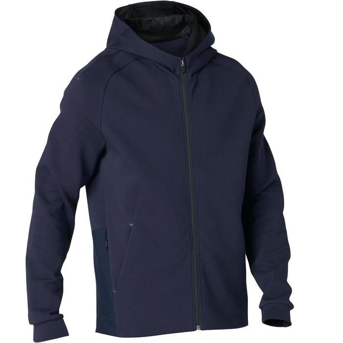 530 Spacer Hooded Pilates & Gentle Gym Jacket - Blue