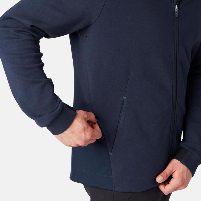 Veste 530 spacer capuche Pilates Gym douce homme bleu