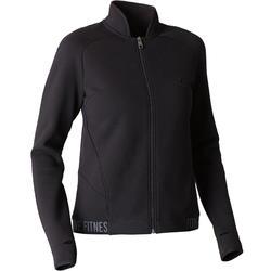 女款溫和健身與皮拉提斯Spacer外套520 - 黑色