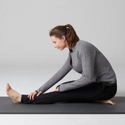 Damesvest voor pilates en lichte gym 520 spacer grijs