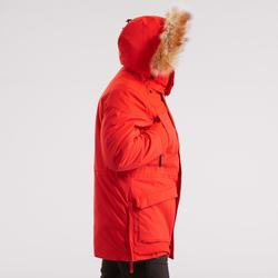Men's ultra-warm snow hiking parka SH500 - red