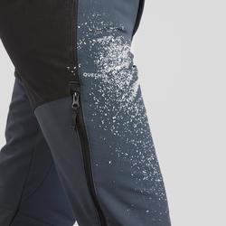 Pantalon de randonnée neige homme SH520 x-warm gris orange.