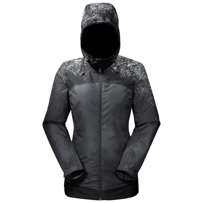 Wandeljas voor de sneeuw dames SH100 X-warm zwart