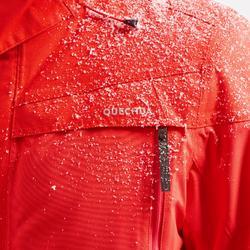 男款極致保暖雪地健行外套SH500-紅色。