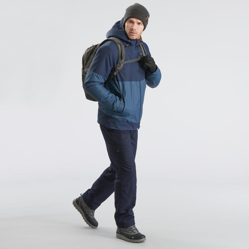 Chaussures de randonnée neige homme SH120 chaudes mi-hauteur grises.