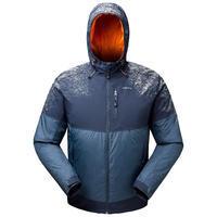 Veste chaude imperméable de randonnée neige SH100 x-warm bleue - Homme
