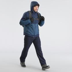 Veste chaude imperméable de randonnée neige homme SH100 x-warm bleue