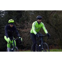 Collant vélo à bretelles RC500 jaune fluo visible EN1150