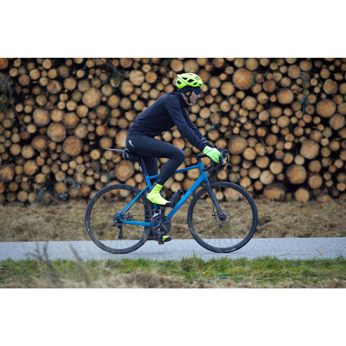 Lange Radhose Rennrad RC 500 Herren schwarz