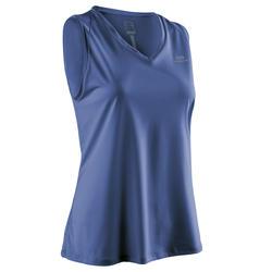 Camiseta Sin Mangas Running Kalenji Run Dry Mujer Azul