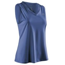 Mouwloos hardloopshirt voor dames Run Dry blauw