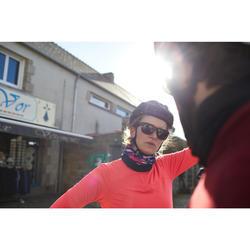 Radtrikot langarm Rennrad 100 Damen rosa