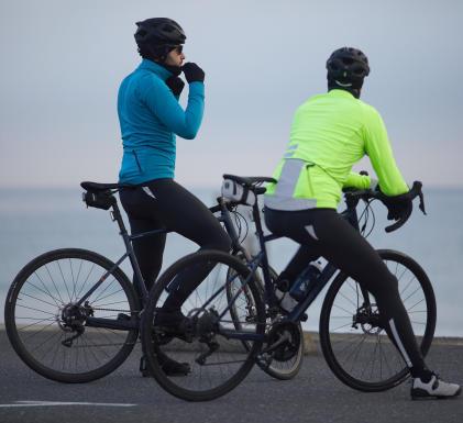 beschermen tegen de kou fietsen