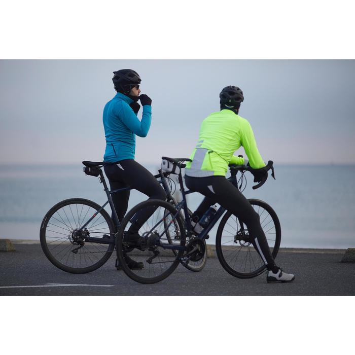 Lange Radhose mit Trägern Rennrad RC 500 schwarz