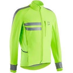 Men's Cycling EN1150 Visible Winter Jacket RC500 - Neon Yellow