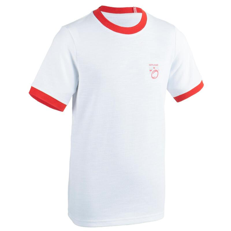Kids' England Supporters Short-Sleeved Top T-Shirt - White