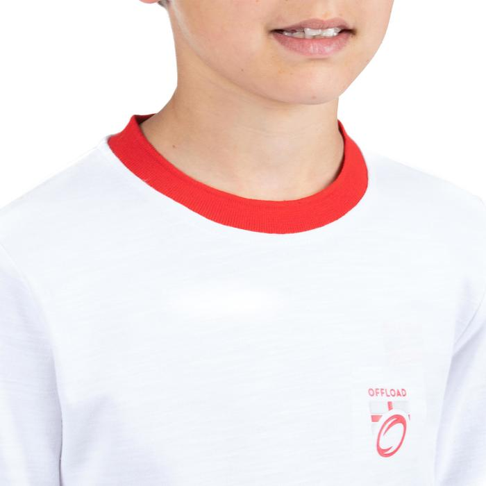 T shirt rugby supporter Coupe du Monde Rugby 2019 Angleterre enfant blanc