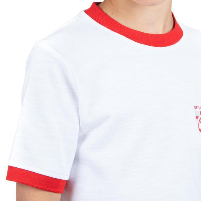 Rugbyshirt voor kinderen Engeland wit supporters wereldbeker rugby 2019