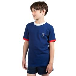 T shirt rugby supporter Rugby 2019 France junior bleu