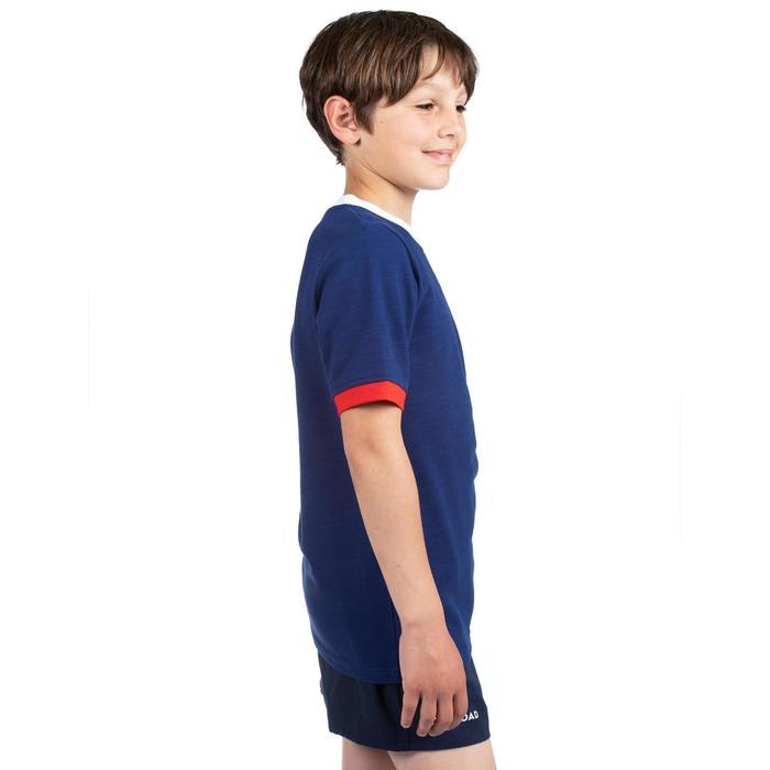 Kinderrugbyshirt Frankrijk 2019 blauw