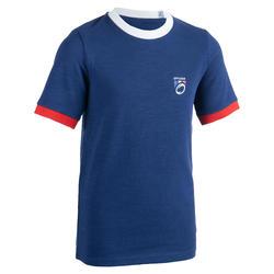 Camiseta de rugby hincha Copa del Mundo de Rugby 2019 Francia júnior azul