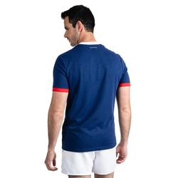 T shirt manches courtes rugby supporter Rugby 2019 France adulte bleu