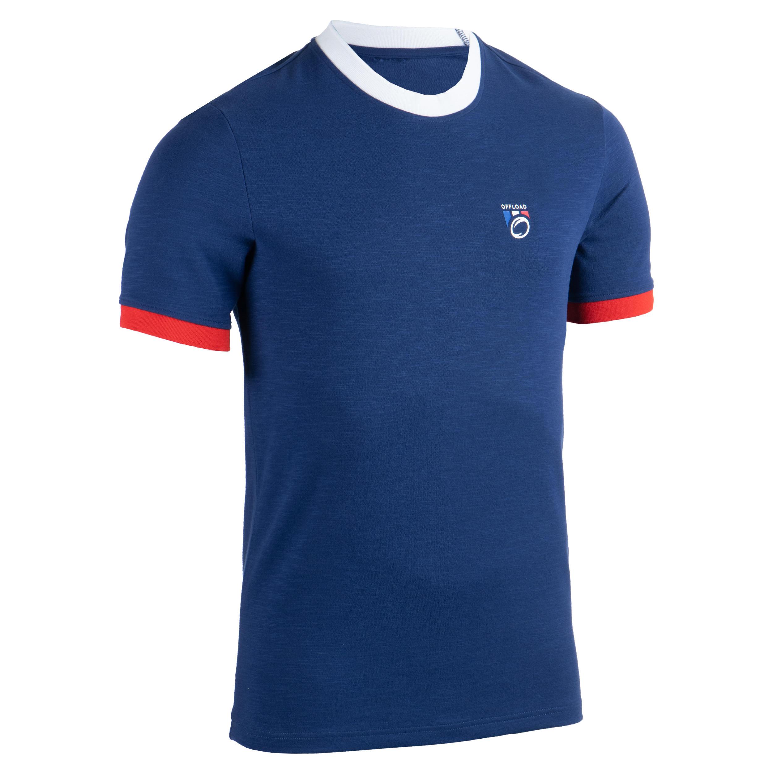 Rugby-Fanshirt Frankreich 2019 Erwachsene blau | Sportbekleidung > Sportshirts > Fanshirts | Offload