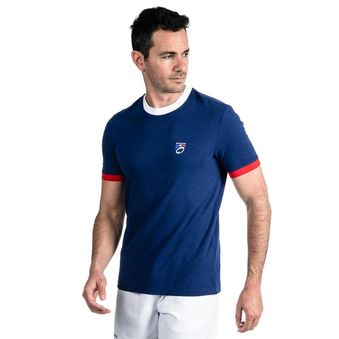 T shirt rugby supporter Rugby 2019 France adulte bleu