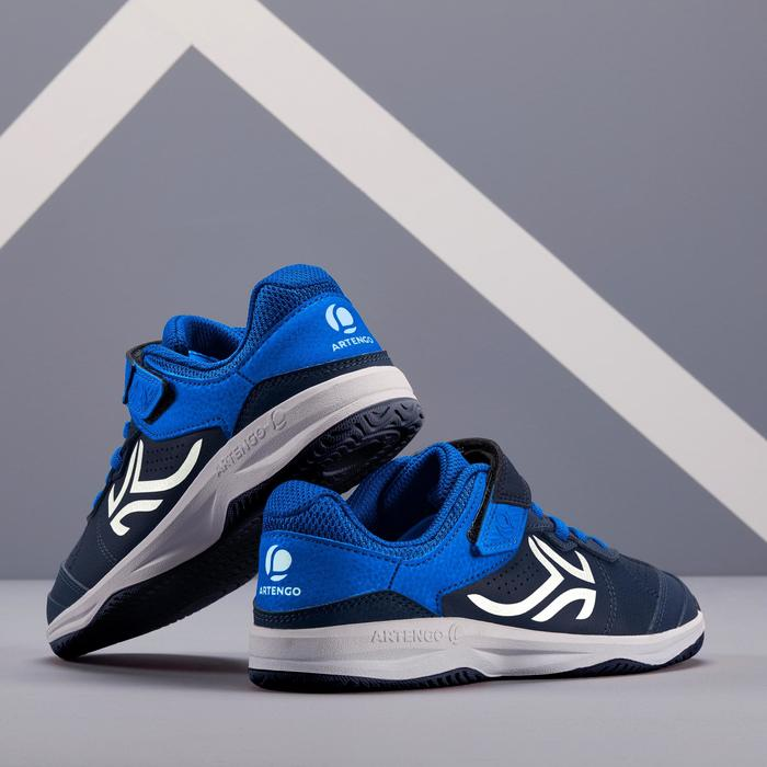 CHAUSSURES ENFANT TENNIS ARTENGO TS160 NAVY BLUE