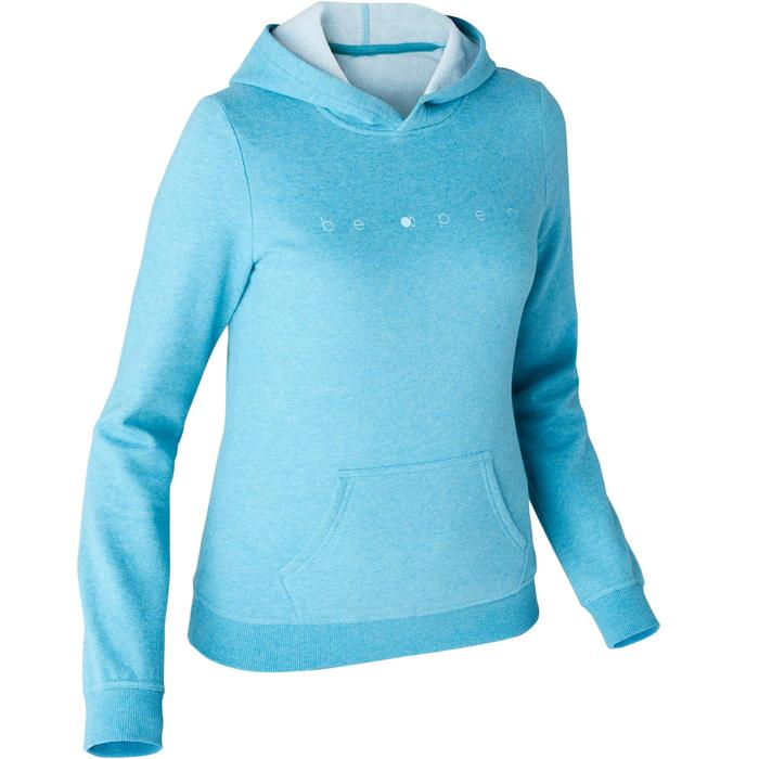 Sweat 520 capuche Pilates Gym douce femme turquoise