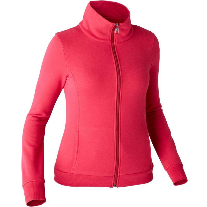 cheaper a1126 e274d Abbigliamento donna - Felpa donna gym pilates 500 rossa