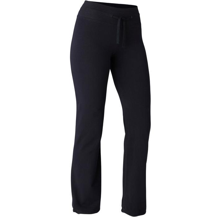 Women's Regular Fitness Leggings Comfort+ 500 - Black