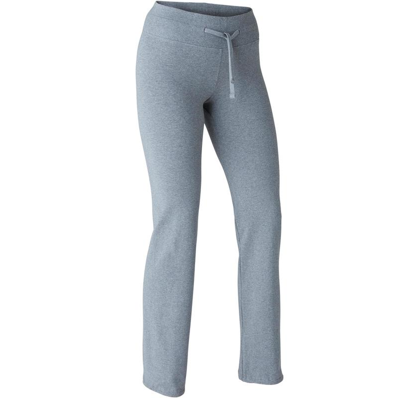 2965233e6 Dámské legíny Confort+ 500 regular na cvičení šedé | Domyos by Decathlon