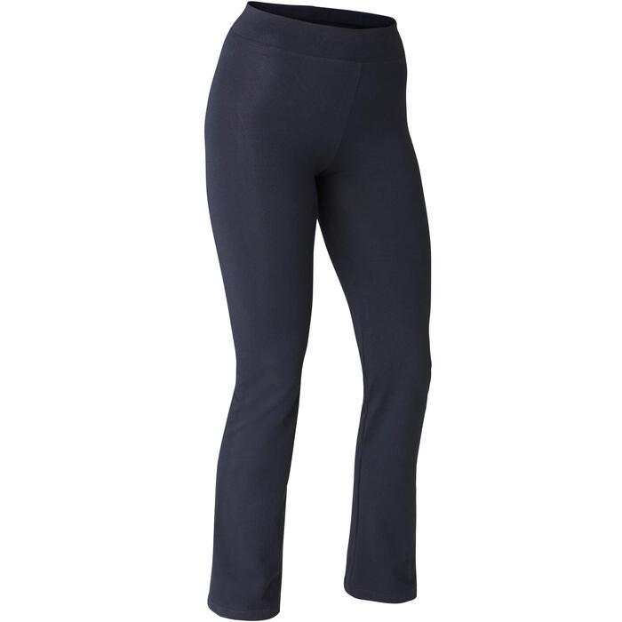 Leggings Fit+ 500 Regular Gym & Pilates Damen schwarz