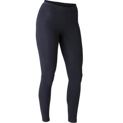 Legging Fit+ 500 slim Pilates Gym douce femme noir