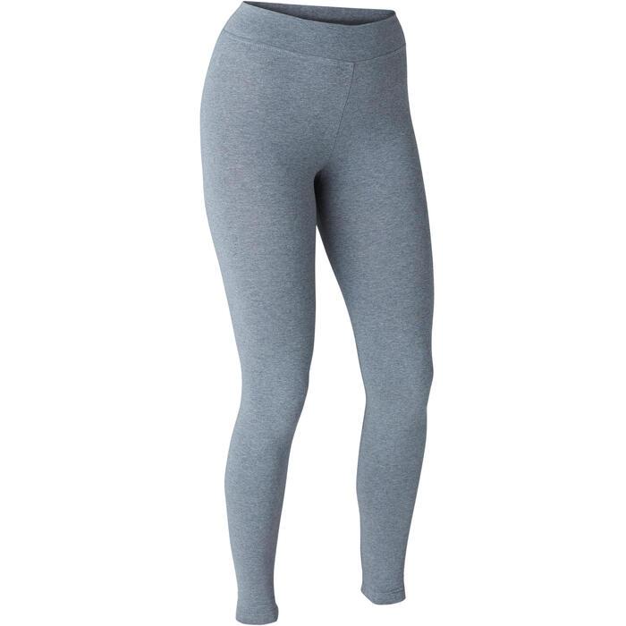 Fitnesslegging dames Fit+ 500 slim fit grijs