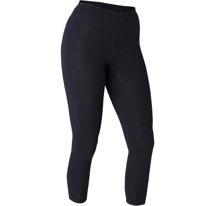 7/8-fitnesslegging dames Fit+ 500 slim fit zwart