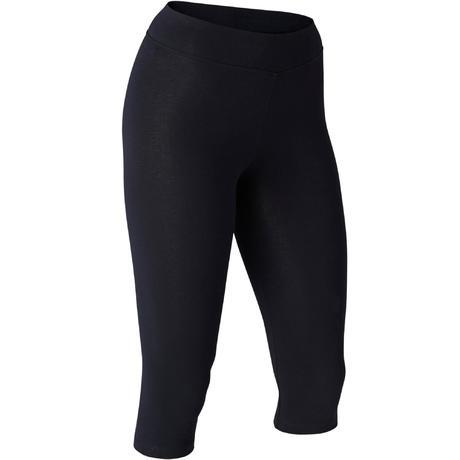 edc163994030 Corsari slim donna gym pilates FIT+ 500 neri | Domyos by Decathlon