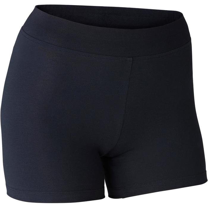 Shorty Fit+ 500 slim Pilates Gym douce femme noir