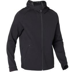 Heren hoodie met rits voor pilates en lichte gym 530 spacer zwart
